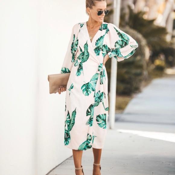 Vici Desert Palm Wrap Dress